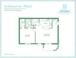1 Bedroom - Front