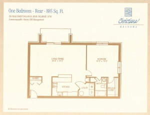 1 Bedroom - Rear