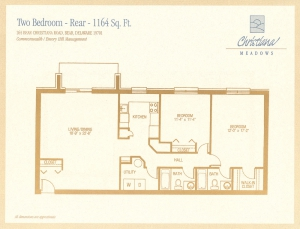 2 Bedroom - Rear