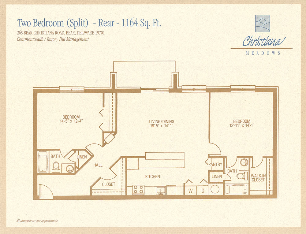 Delicieux 2 Bedroom Split   Rear
