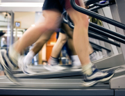 Treadmills being used in a gymnasium in Birmingham UK